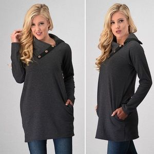 60% OFF! Charcoal Tunic Top
